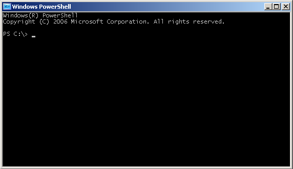 PowerShell window.