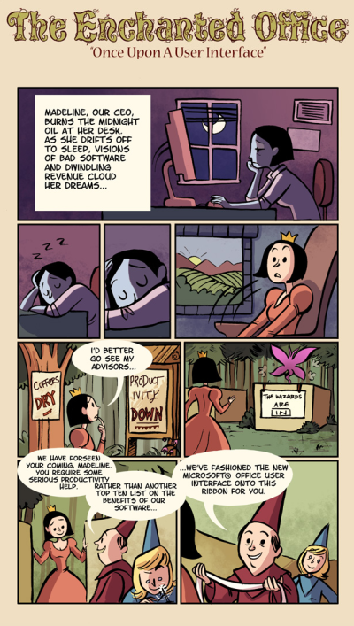 The enchanted office.