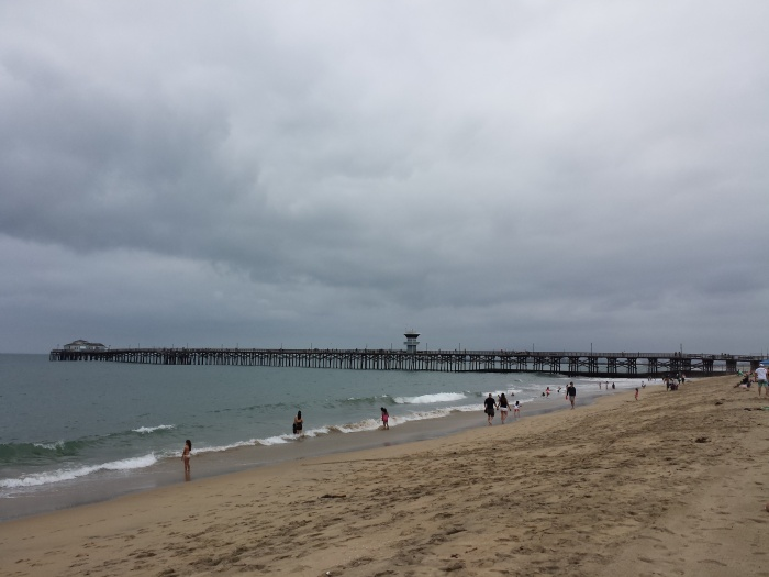 June Gloom conditions prevailing at Seal Beach in late morning, June 2013.