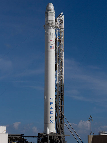 Falcon 9 is on the pad.